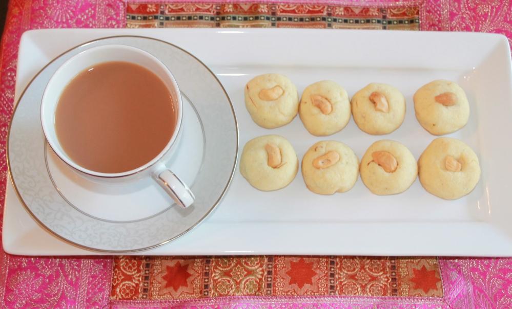 Eggless Saffron Cookies (Nan Khatai)