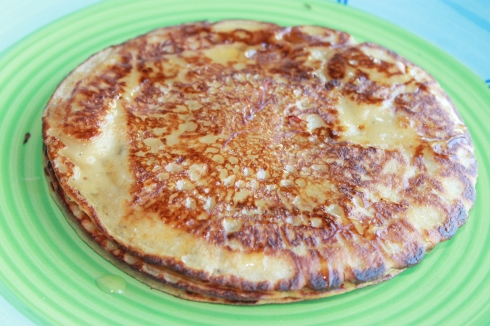 Saffron and Cardamom pancakes