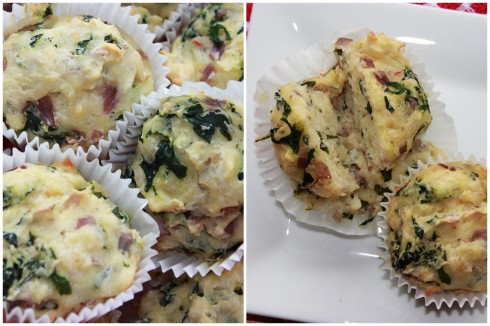 Spinach and Pepper jack Muffin 2