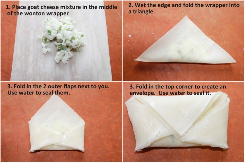 Goat cheese parcels
