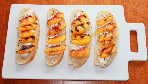 Grilled Peaches with Burrata and Honey