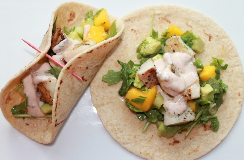 Tilapia Tacos with Mango and Avocado