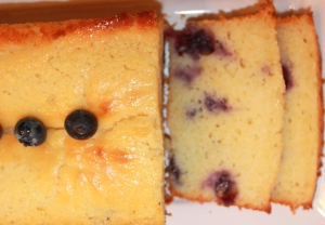 Sliced Lemon Blueberry Pound Cake
