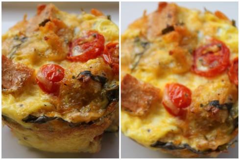 Individual Tomato Basil Bread Pudding
